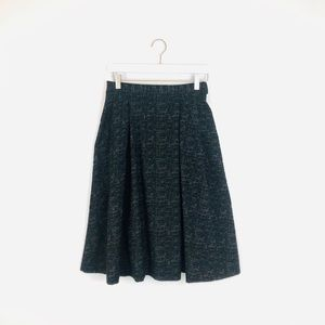H&M black high waist textured full long skirt